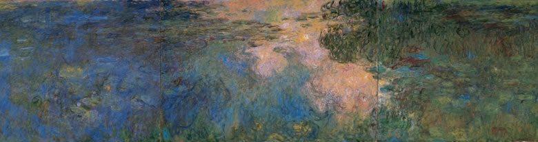 Claude Monet: Vízililiomok (1917–1920; olaj, vászon; 200,5x301 cm; Beyeler-gyűjtemény, Bázel)