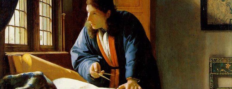 Jan Vermeer van Delft: A geográfusról (1668–69; olaj, vászon; 53×46,6 cm; Städelsches Kunstinstitut, Frankfurt am Main)
