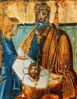 Abgar király Jézus képmásával, X. század