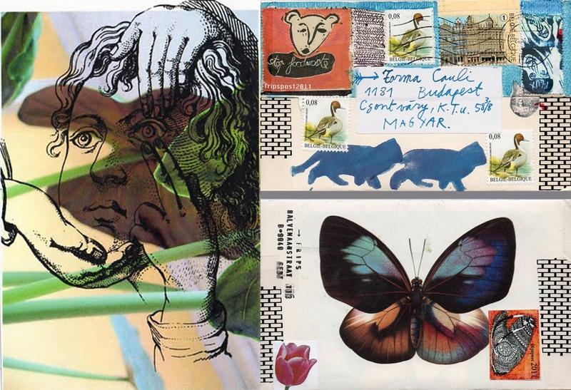 Frips mail art lapjai Torma Caulihoz