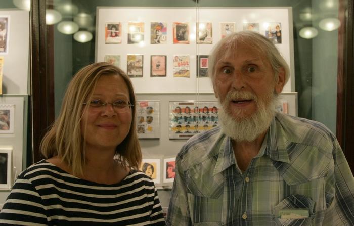 Susanna Lakner és Torma Cauli László a Bélyegmúzeumban (Fotó: Zsubori Ervin)