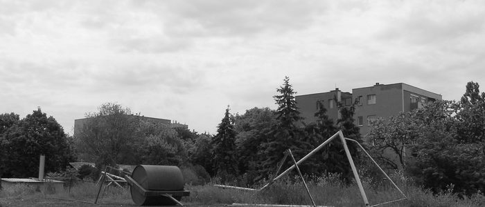 Az egykori Erdért-pálya felett az ég (Fotó: Okrutay Miklós, 2008)