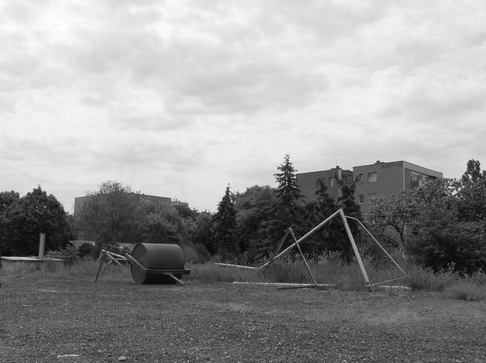 Az egykori Erdért-pálya fölött az ég (Fotó: Okrutay Miklós, 2008)