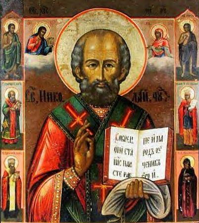 Szent Miklós egy orosz ikonon, XIX. század