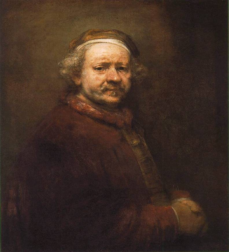 Rembrandt: Önarckép (1669; olaj, vászon; 86 × 70,5 cm; National Gallery, London)