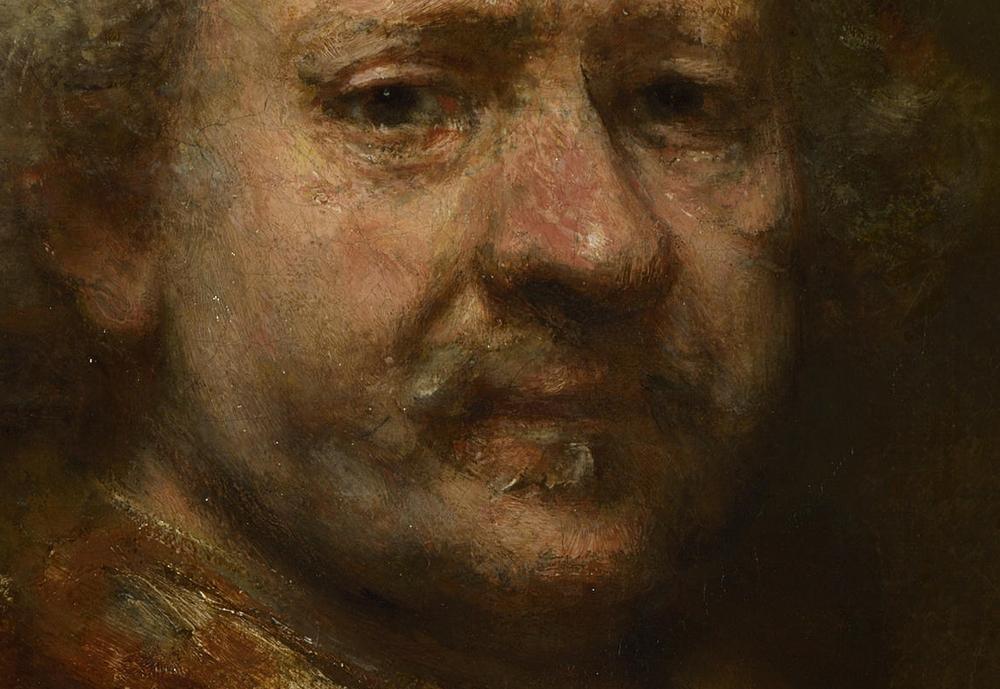 Rembrandt: Önarckép (1669.; National Gallery, London) - részlet