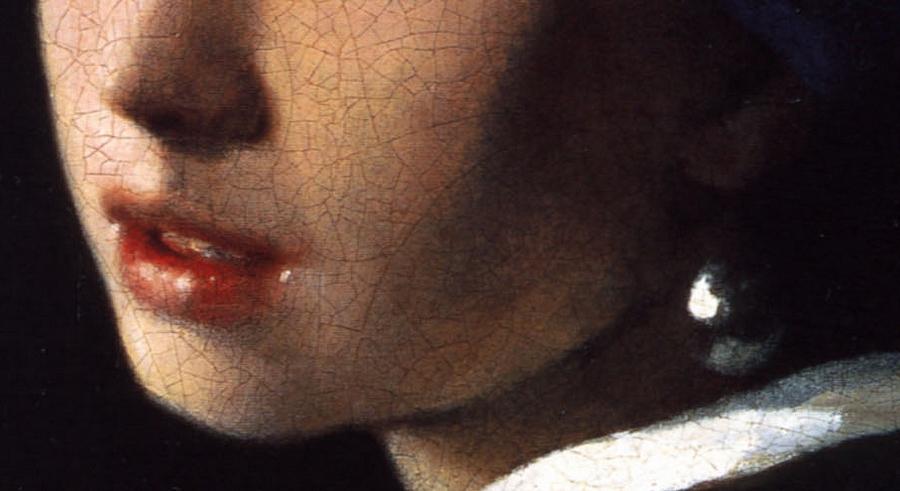 Jan Vermeer van Delft: Leány gyöngy fülbevalóval (részlet)