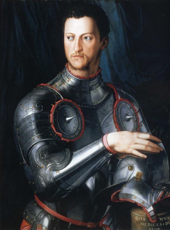 Agnolo Bronzino: Cosimo de'Medici (1543, Uffizi, Firenze)