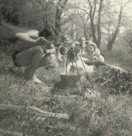 Buli a Karcsa partján a hetvenes években