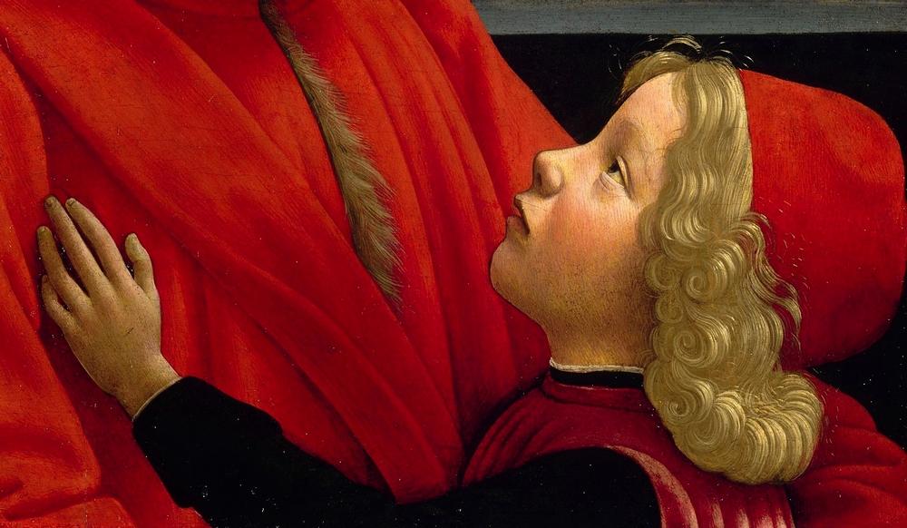 Domenico Ghirlandaio: Nagyapa az unokájával (részlet)
