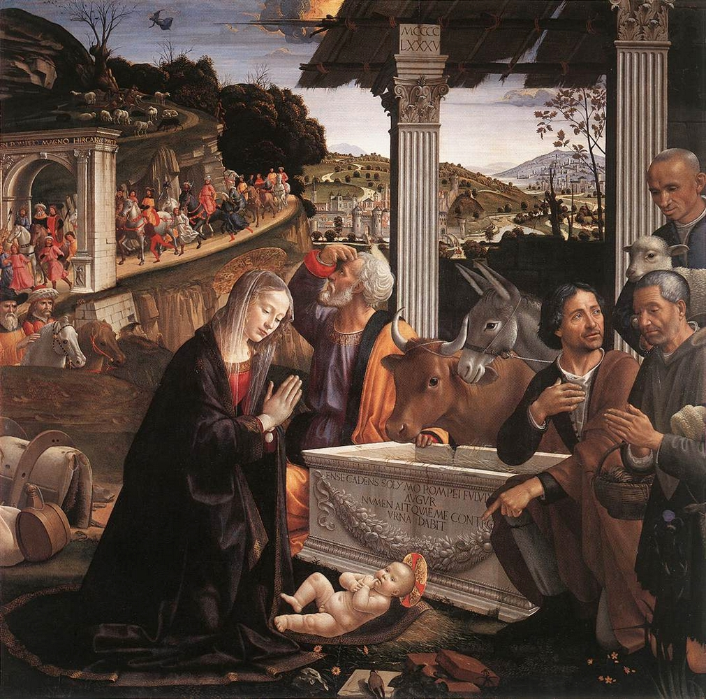 Domenico Ghirlandaio: Pásztorok imádása