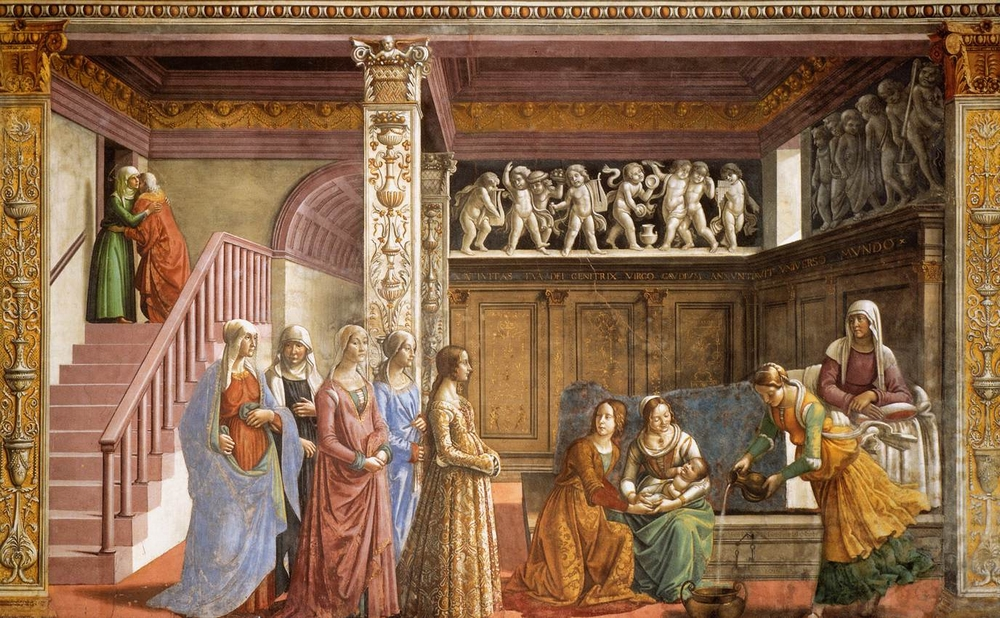 Domenico Ghirlandaio: Szűz Mária születése