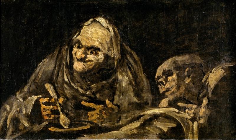 Francisco Goya: Két ember levest eszik, 1821–1823