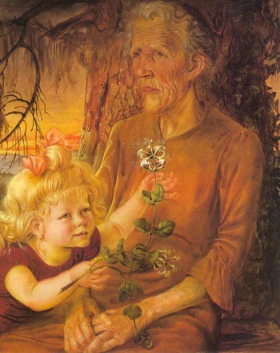 Otto Dix: Anyám és Éva, 1935