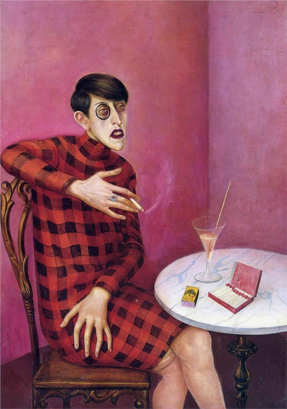 Otto Dix: Sylvia von Harden újságírónő portréja, 1926