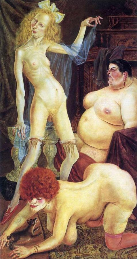 Otto Dix: Három asszony, 1926
