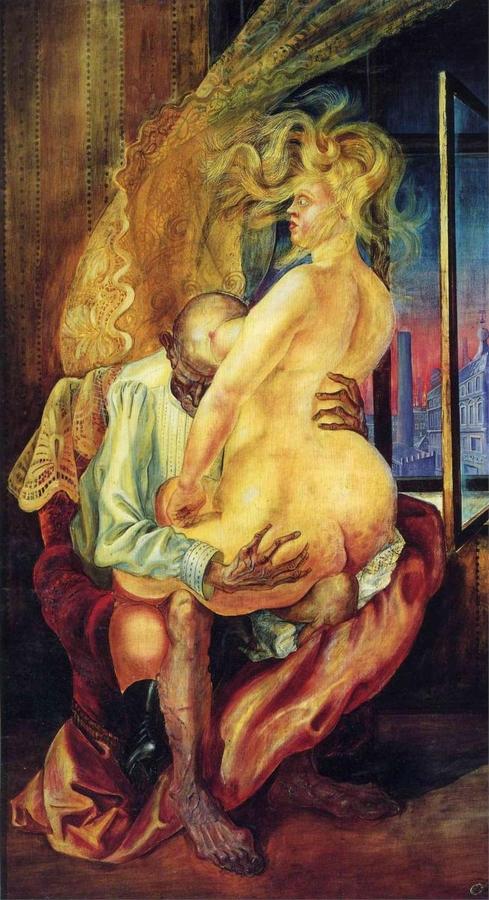 Otto Dix: Össze nem illő szerelmespár, 1925