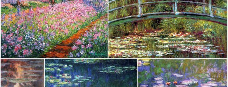 Monet-festmények Givernyből
