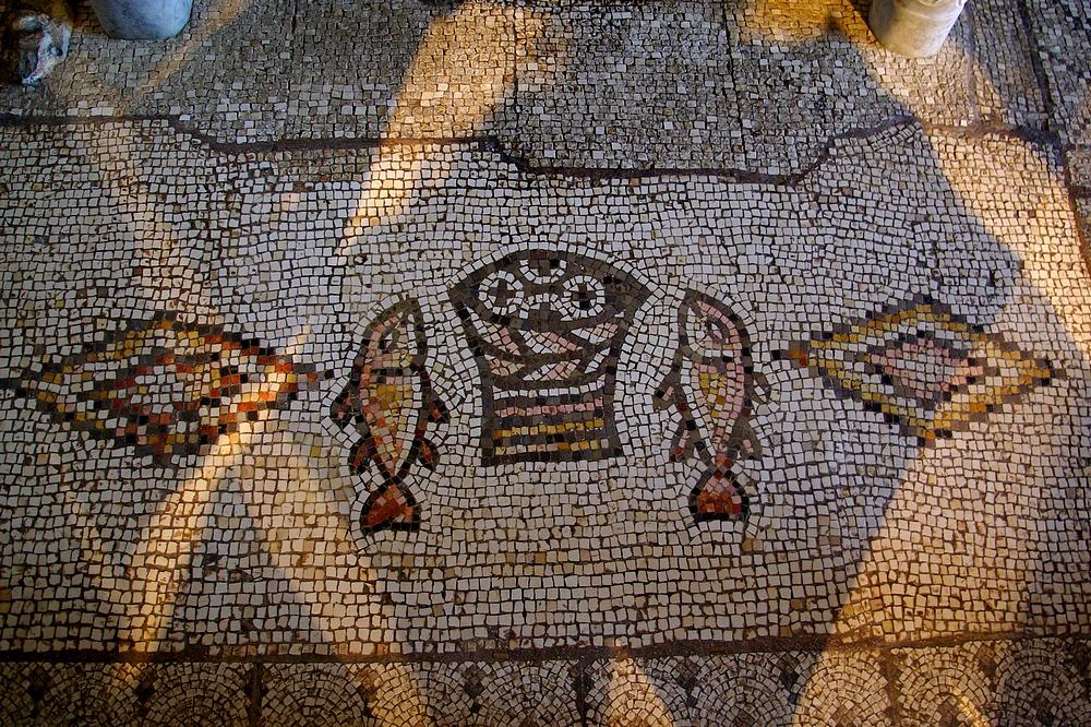 Mozaikok a Kenyérszaporítás templomában, Tabgha