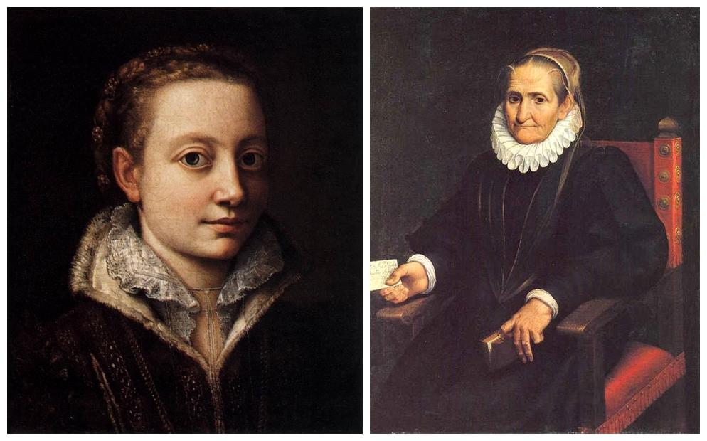 Sofonisba Anguissola: Önarckép - 1561, illetve 1610