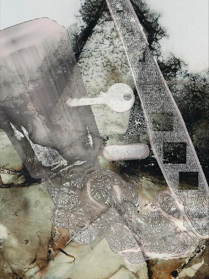 Barti Magdolna: Gubanc (2013; tintasugaras nyomat; 50x37,5 cm)