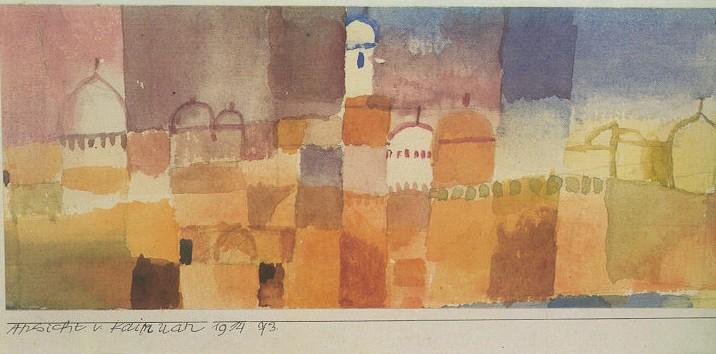 Paul Klee: Kairouan látképe, 1914