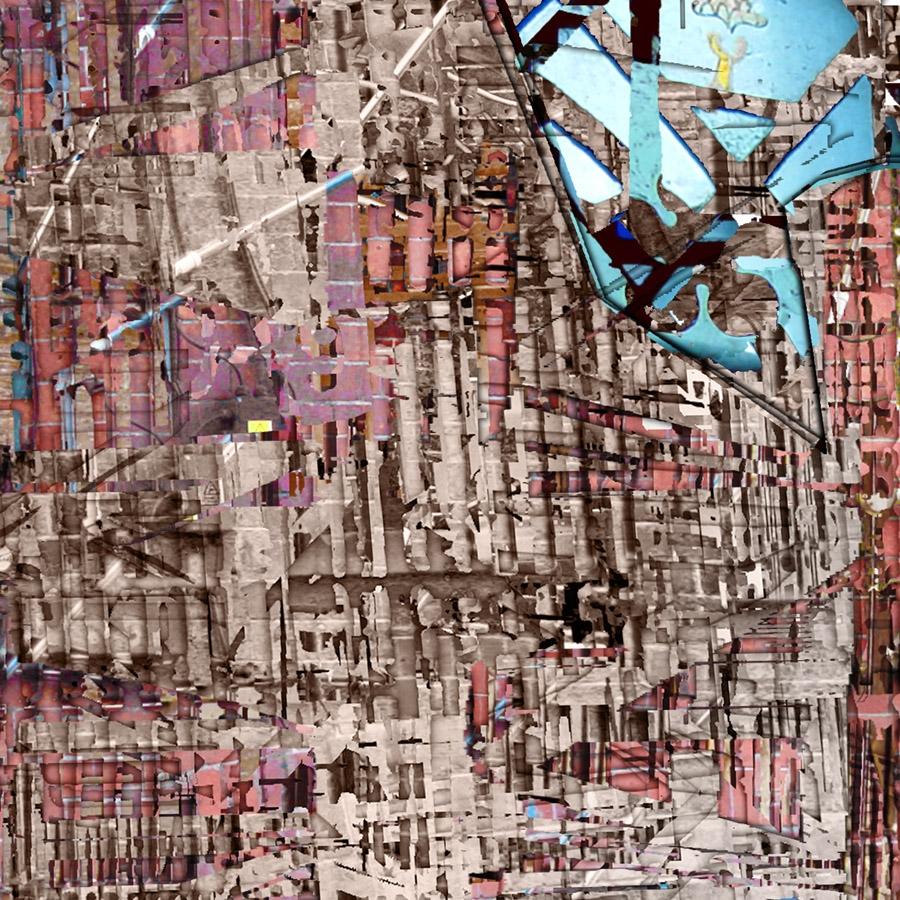 Kováts Borbála: Falak, rétegek II/1. - részlet (2009; tintasugaras nyomat; 100×100 cm)