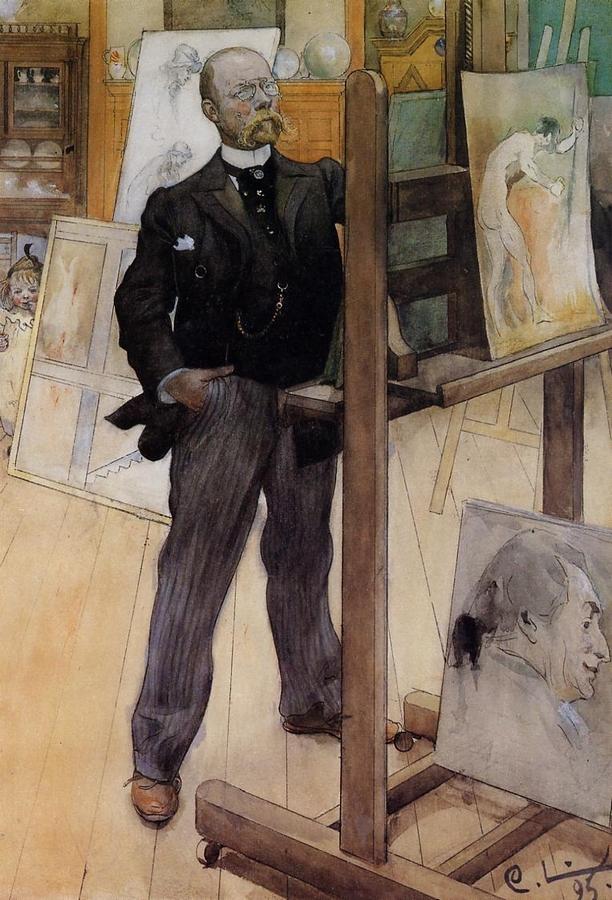 Carl Larsson: Önarckép, 1895