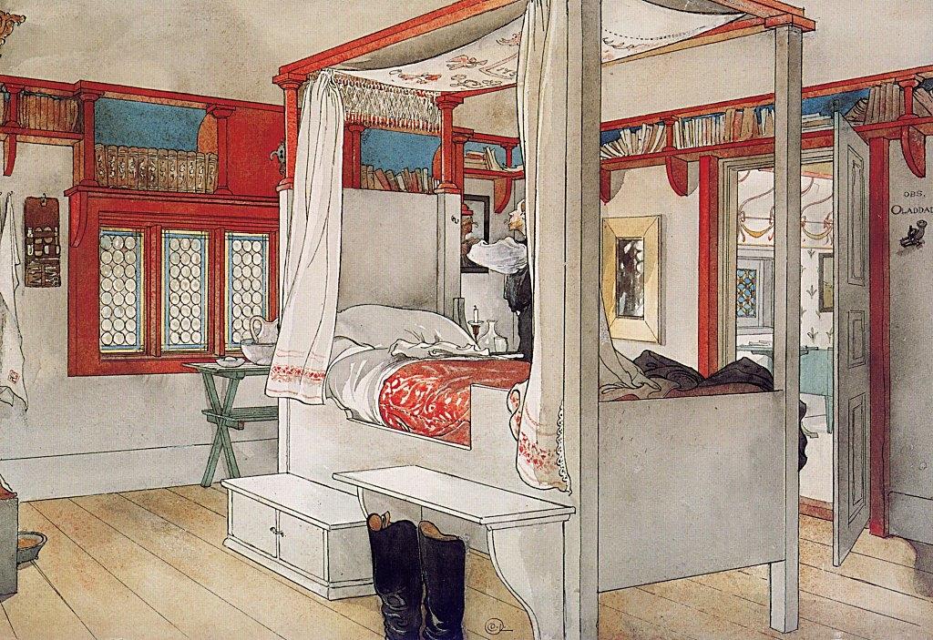 Carl Larsson hálószobája, 1895