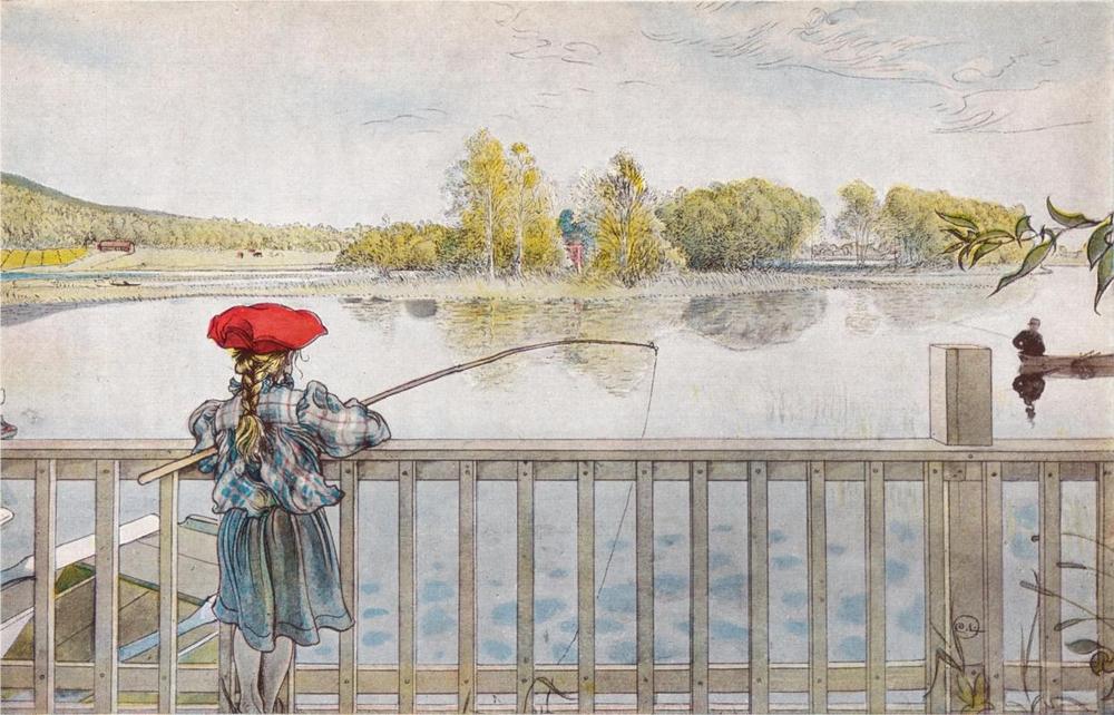 Carl Larsson: Lisbeth a hídon, 1898