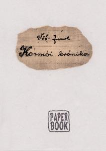 A Kormói krónika címlapja