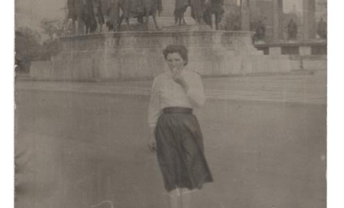 Hősök tere, 1960 körül (Fotó a családi archívumból)