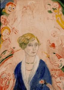 James Ensor: Augusta Boogaerts portréja (1939)