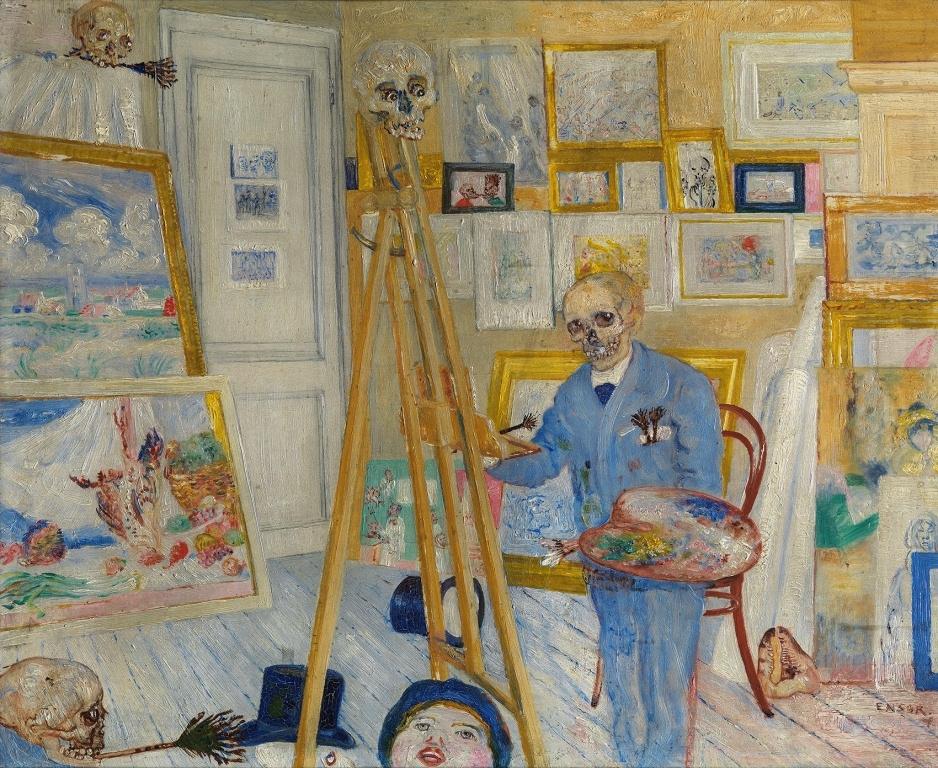 James Ensor: Csontvázfestő (1896–1897)