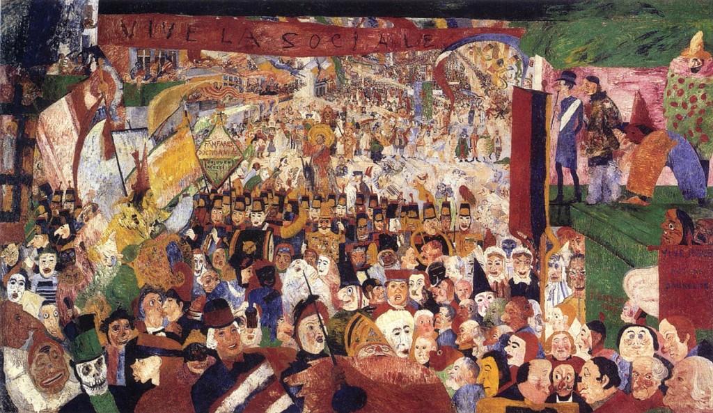 James Ensor: Krisztus bevonulása Brüsszelbe az 1889. évben (1888)