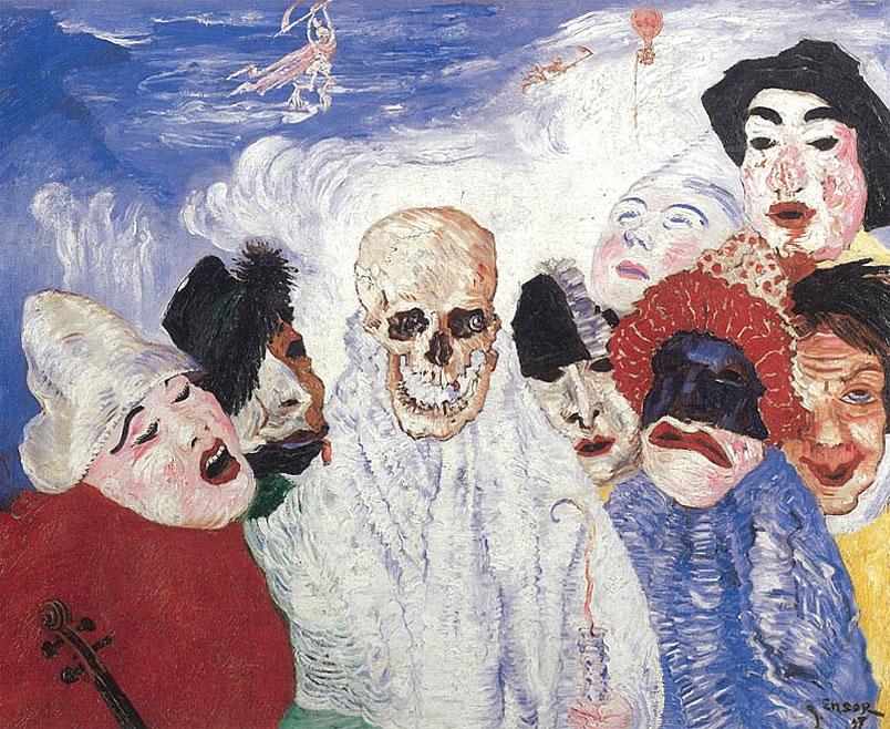 James Ensor: Halál és maszkok (1897)