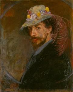 James Ensor: Önarckép virágos kalapban (1883–1888)