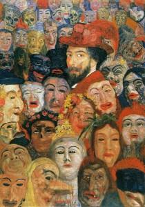 James Ensor: Önarckép maszkokkal (1899)