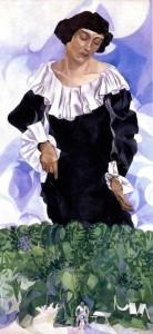 Marc Chagall: Bella fehér gallérral (1917)