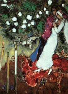 Marc Chagall: Három gyertyatartó (1938)
