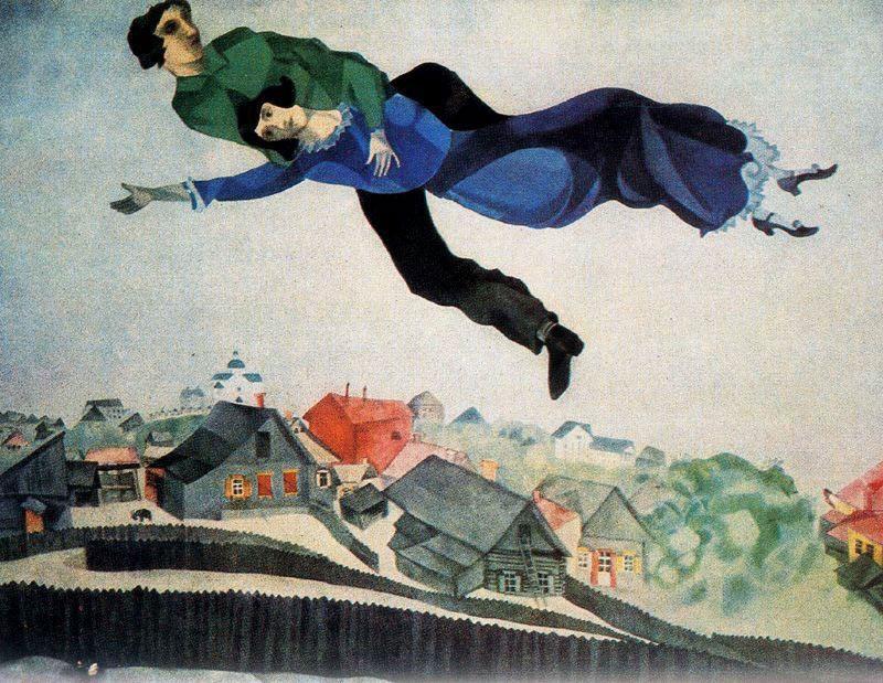 Marc Chagall: A város felett (1918)