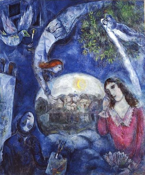 Marc Chagall: Őkörülötte (1945)