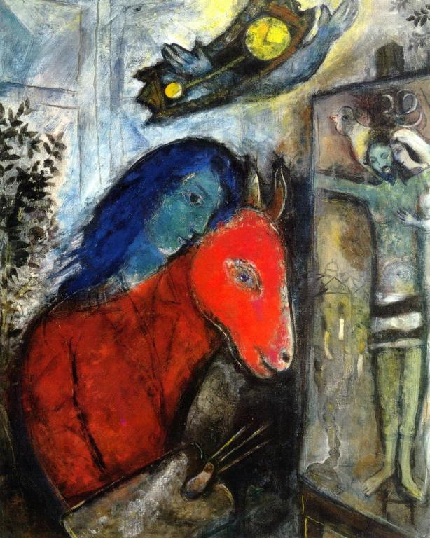 Marc Chagall: Önarckép órával (1947)