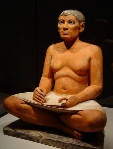 Ülő írnok (I. e. III. évezred; Louvre, Párizs)