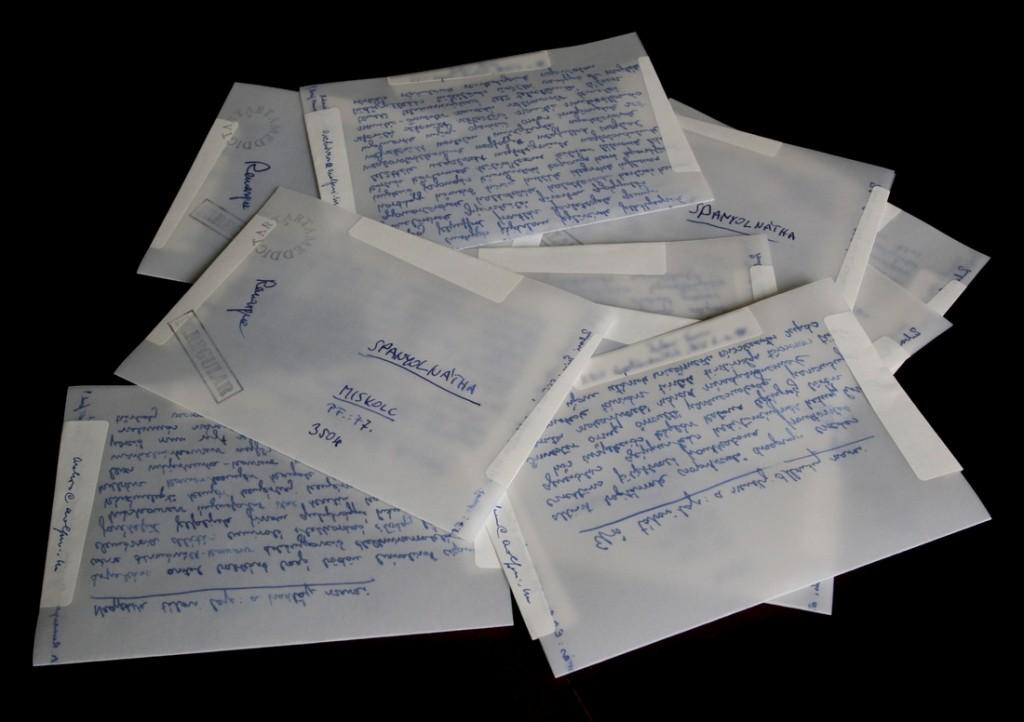 Zsubori Ervin: Remarque szavai - 10 tábori lapból álló mail art ciklus
