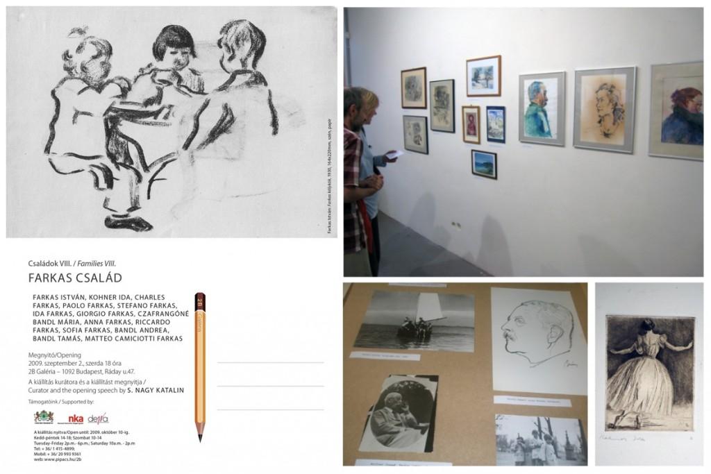 A Farkas család kiállítása a 2B Galériában - meghívó és képek a tárlatról