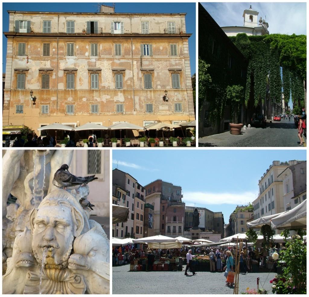Róma - Piazza Santa Maria in Trastevere; Via Giulia; Piazza Navona; Campo de'Fiori (Fotók: Zsubori Ervin)