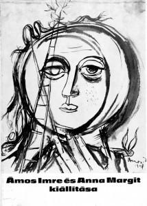 Ámos Imre és Anna Margit miskolci kiállításának katalógusa, 1973.