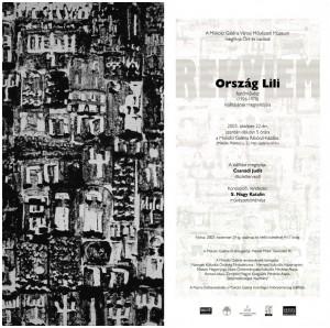 A miskolci Ország Lili-kiállítás meghívója, 2003.