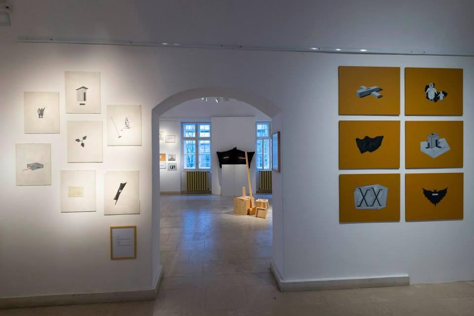 Gerber Pál kiállításának részlete (Fotó: Batthyány 24 Műterem Galéria)